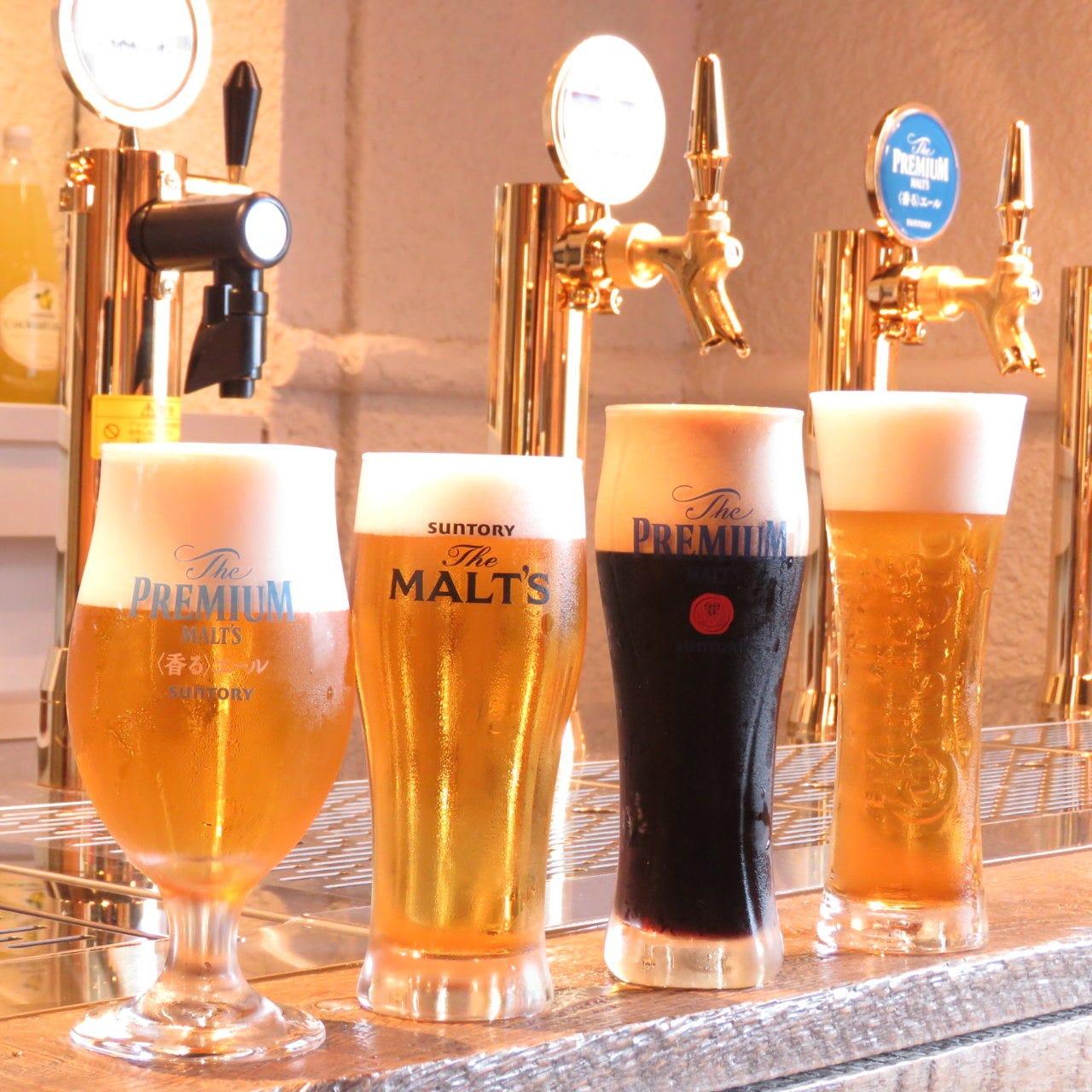 4種の樽生ビールサーバー飲み放題