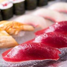 職人の技光る極上の江戸前寿司