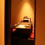 掘りごたつの完全個室!落ち着いた雰囲気のプライベート空間(6名様席×2)