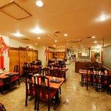 《店内貸切》清潔感ある中華風ワンフロアの空間を貸切(50〜110名様)
