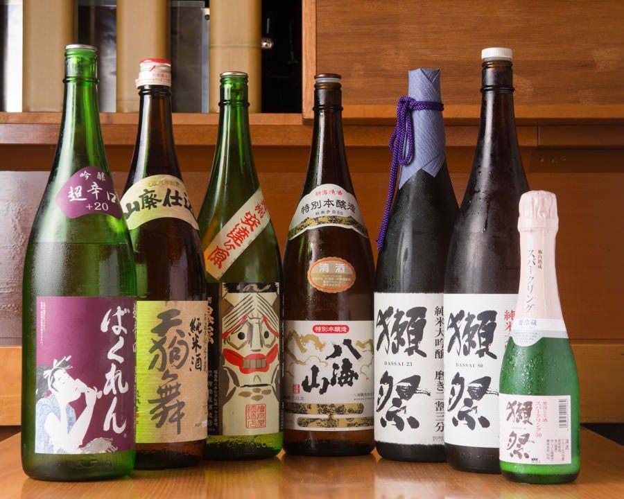 日本酒と焼酎にこだわる