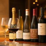 シャンパーニュやシャブリはじめ、銘醸ワイン50種をご用意