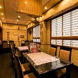 【ゆったりテーブル宴会個室】 人気の団体テーブル個室
