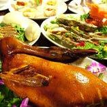豪華なご宴会に「北京ダック」も好評!溢れる旨みが堪りません