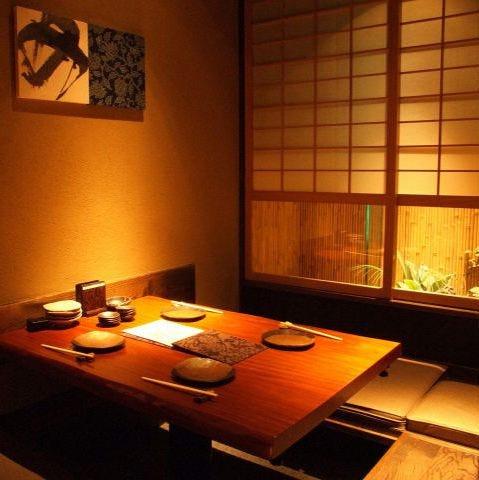落ち着いた雰囲気の個室完備◎