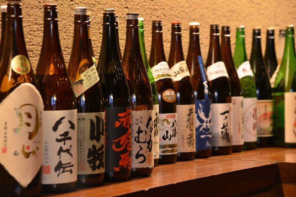 種類豊富な日本酒・焼酎・梅酒