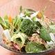 28種類の旬野菜と魚介のメリメロサラダ 旬野菜を満喫!