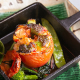 本日の魚介料理 新鮮魚介とトマトを豪快にフライパン焼きに