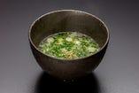 ネギたっぷりスープ