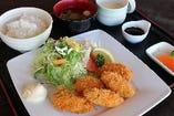 広島産カキフライ御膳(自家製タルタルソース)