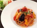 菜園風トマトソースのスパゲッティー