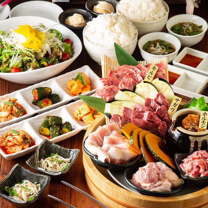◆当店いちおしのスタンダードなコース◆お肉6種『直球ニコニココース』[全13品]