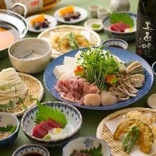 自慢の自家製うどんを鍋で楽しむ『うどんすきコース』|宴会 飲み会 会食 接待