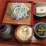 夏のキャンペーン 信州ひすいそば そば豆腐 山葵菜お浸し