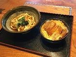 【日替わりランチセット】カツ丼とかけうどんセット