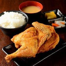 【ランチ】北海道 小樽名物!若鶏半身揚げ定食