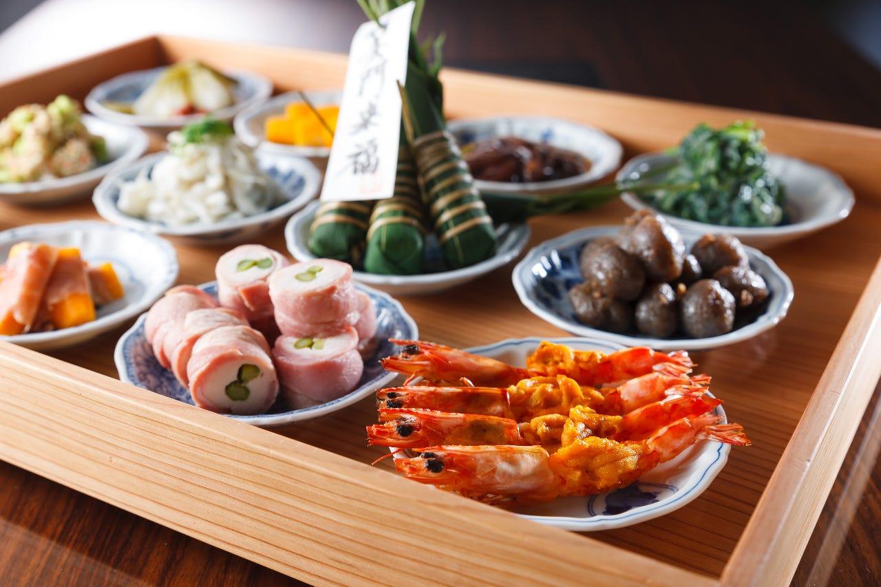 十二種豆皿膳は7480円以上の魚しゃぶコースに付きます