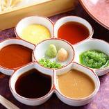 六種類の味を楽しむ自家製のタレ