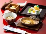 その日入った新鮮な旬の食材を ご提供する、大将自慢の懐石コース