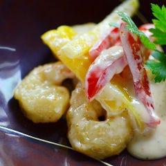 真菜や特製 海老マヨネーズ炒め 柚子胡椒風味