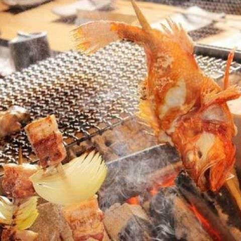 炉端焼きで引き出す食材の旨み