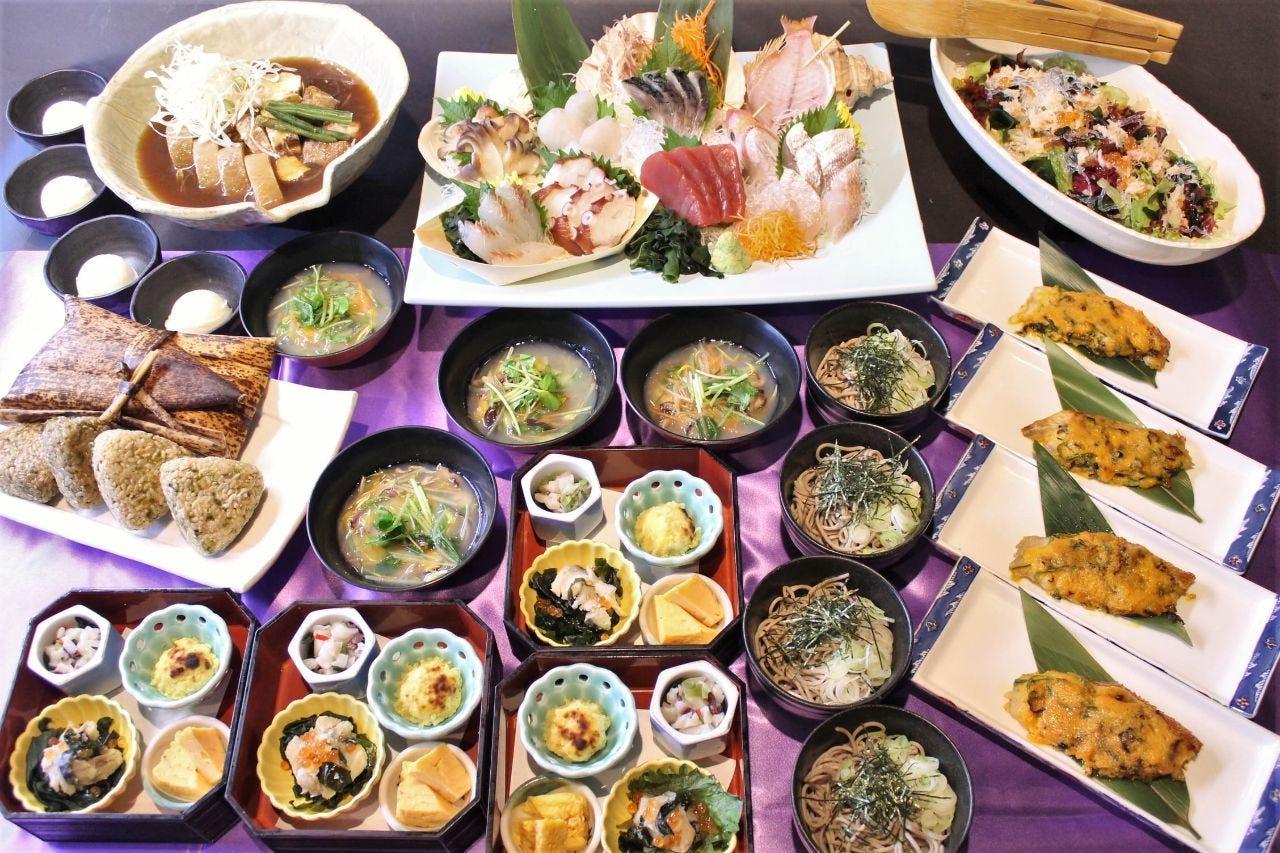 【2H飲み放題付】旬魚4種盛り!豚の角煮や季節の酒菜も♪4000円コース〈全8品〉
