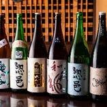 こだわりの日本酒ラインアップ。メニューにないお酒も入荷します
