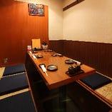 少人数~12名様までご利用頂ける個室・半個室を多数ご用意。