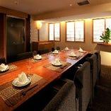 上質な空間で「あえん」の料理を味わう、完全個室。