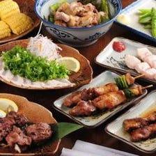 丹波鶏、河内鴨の宴会コース