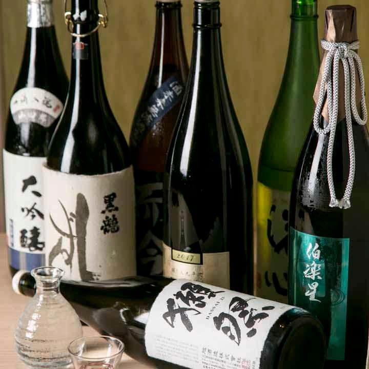 通好みの銘酒を常時20種ラインナップ