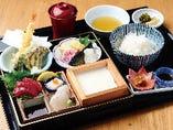 ◆手作り豆腐とお造り御膳