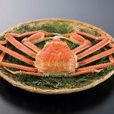 活ずわい蟹を使用したコース
