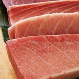 その日仕入れの新鮮な魚介をご用意しています。