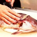 厳選したこだわりの鮮魚をご提供致します。