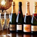 記念日等に最適なシャンパンもご用意しております。