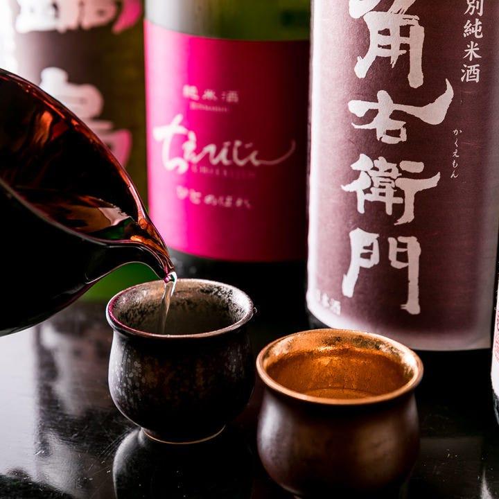 自慢の鮮魚や蕎麦と相性抜群の日本酒