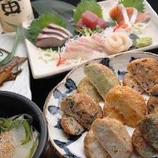 【2時間飲み放題付き】大満足の料理全9品コース