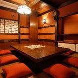 6〜10名様までご利用いただける京都に町屋をイメージした個室