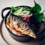 焼き鯖のココットご飯 薬味のせ