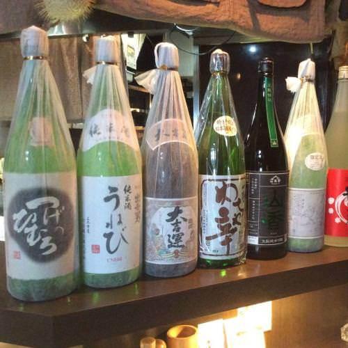 大和(奈良)地酒、常時約30種ご用意!