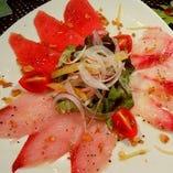 おすすめ鮮魚3種 カルパッチョ仕立て
