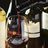 イタリアのワインやジンなど、料理に合うお酒を多数ご用意!