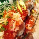 インパクト絶大!コレを食べなきゃもったいない! こぼれ寿司