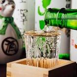 【充実の飲み放題】日本酒3種類が含まれます! まけまけ(=なみなみ)でどうぞ