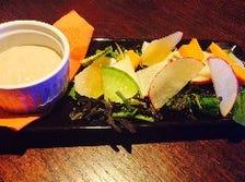 有機野菜のスティックサラダ風 バーニャカウダソース