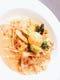 春野菜がたっぷりと厚切りベーコンのフィレンツェ風カルボナーラ