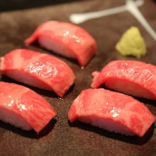 歓送迎会は黒毛和牛肉寿司食飲放題♪