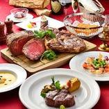 """""""コース料理"""" ステーキや旬の魚介類など極上の逸品を堪能。"""