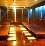 完全個室の宴会場は最大50名まで
